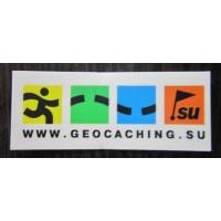 Наклейка для контейнера Geocaching 50x20 мм